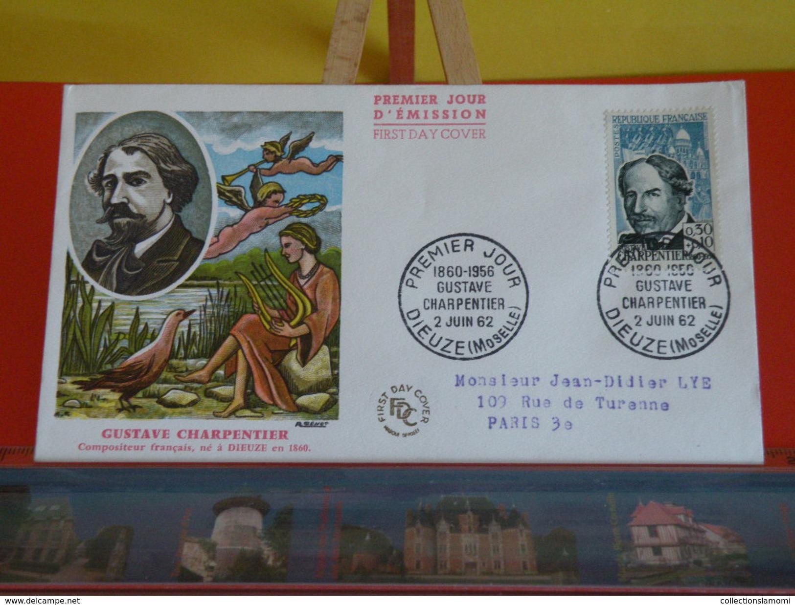 FDC > France > 1960-1969 > Gustave Charpentier - 57 Dieuze - 2.6.1962 - 1er Jour. Coté 7,50 € - FDC