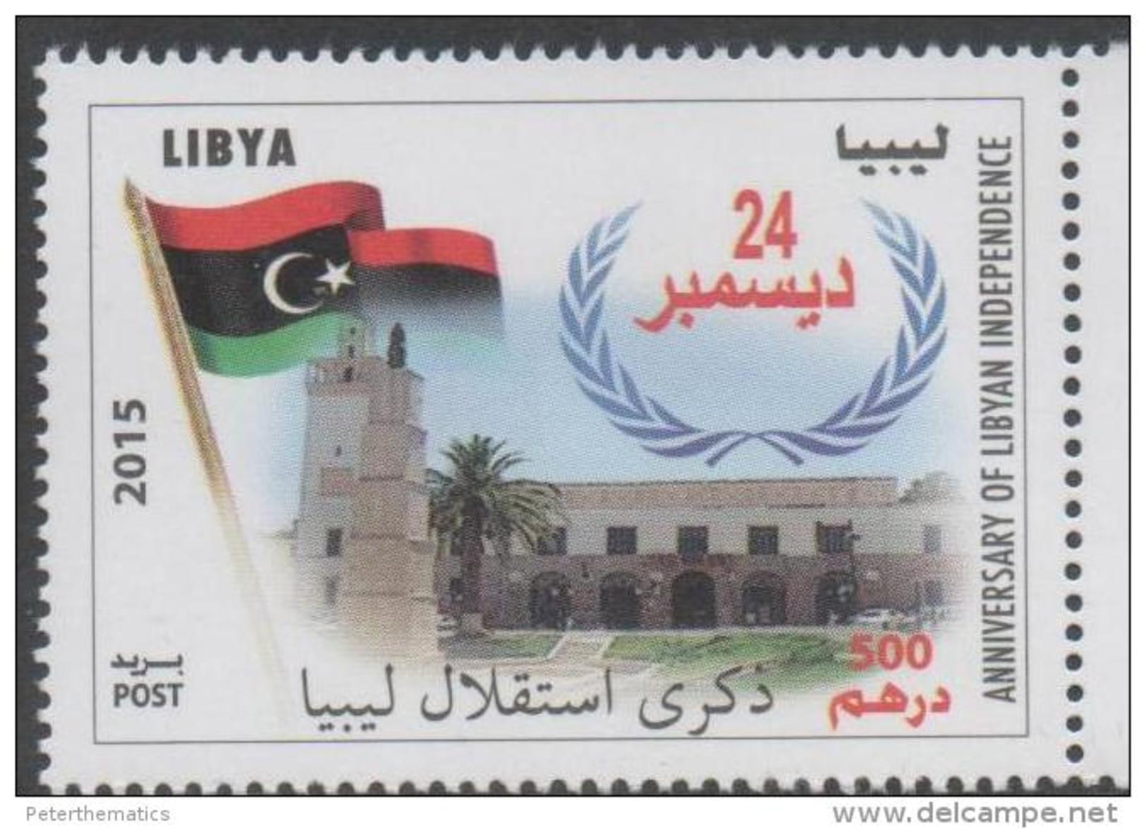 LIBYA,2015, MNH,ANNIVERSARY OF LIBYAN INDEPENDENCE,FLAGS, 1v - Postzegels