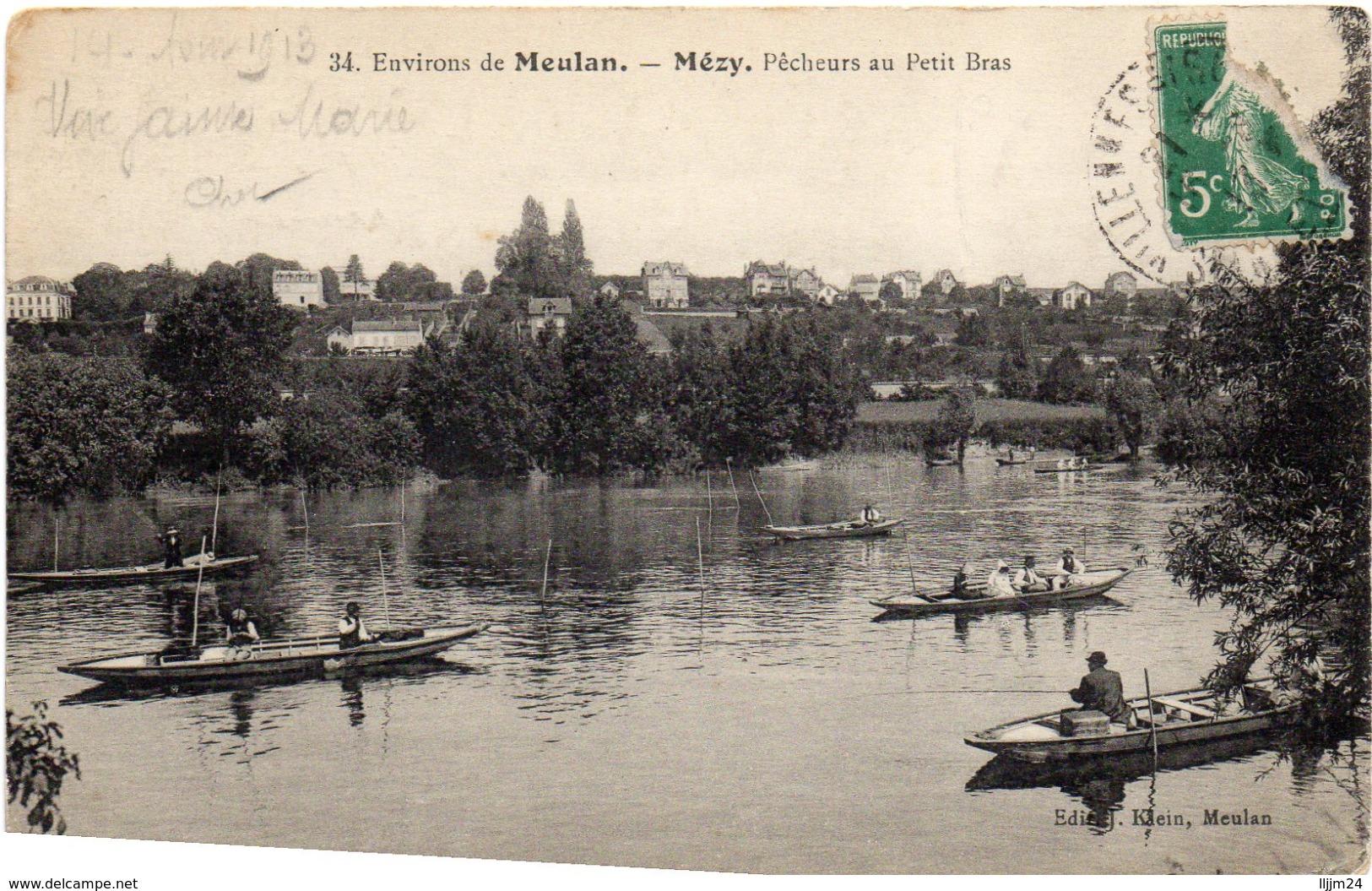 - MEZY -1913- Pêcheurs Au Petit Bras - - Autres Communes