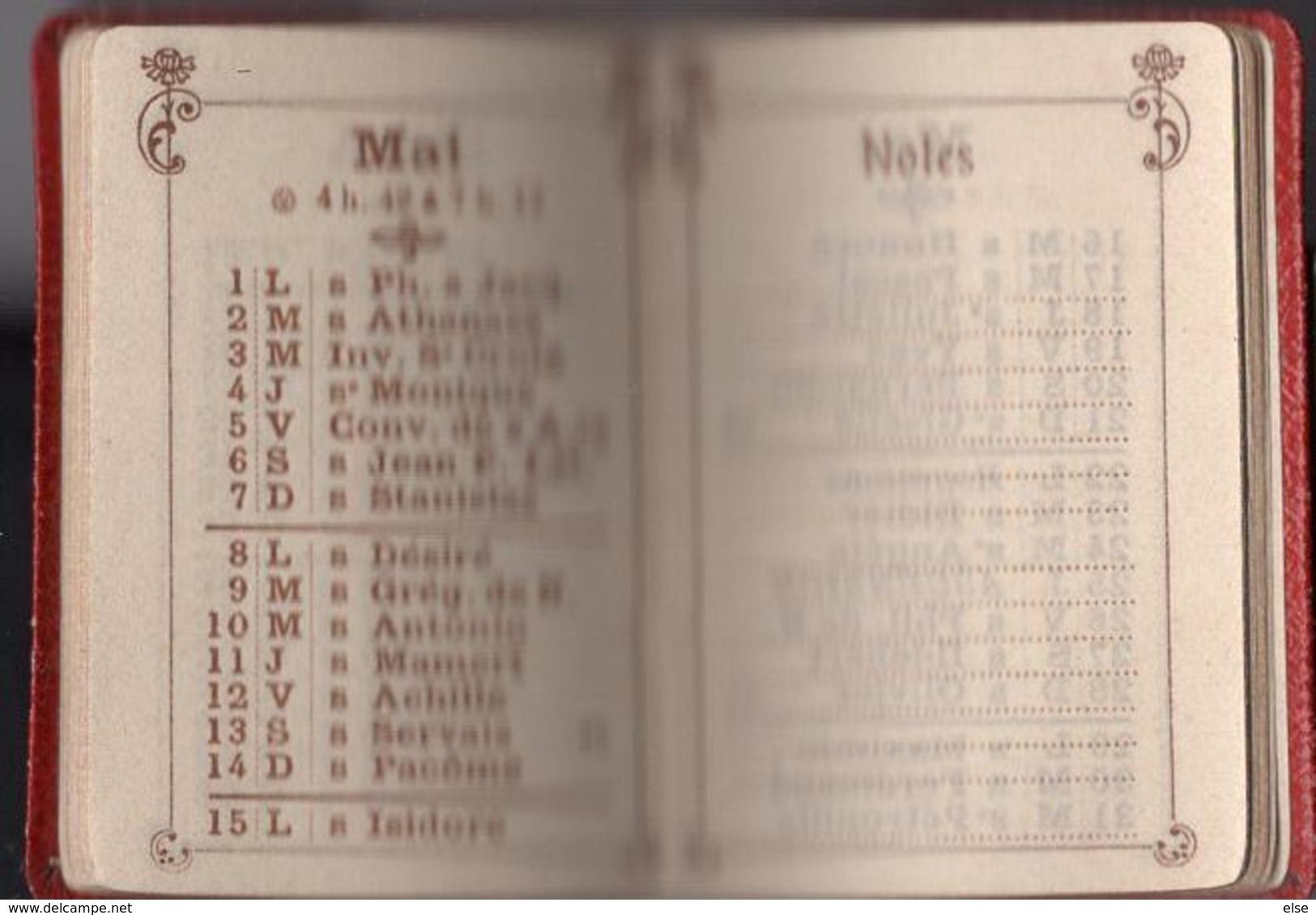 PETIT ALMANACH 1911 CALENDRIER AVEC NOTES  PUBLICITAIRE LIBRAIRIE Vve DUVAL  PAU - Calendriers