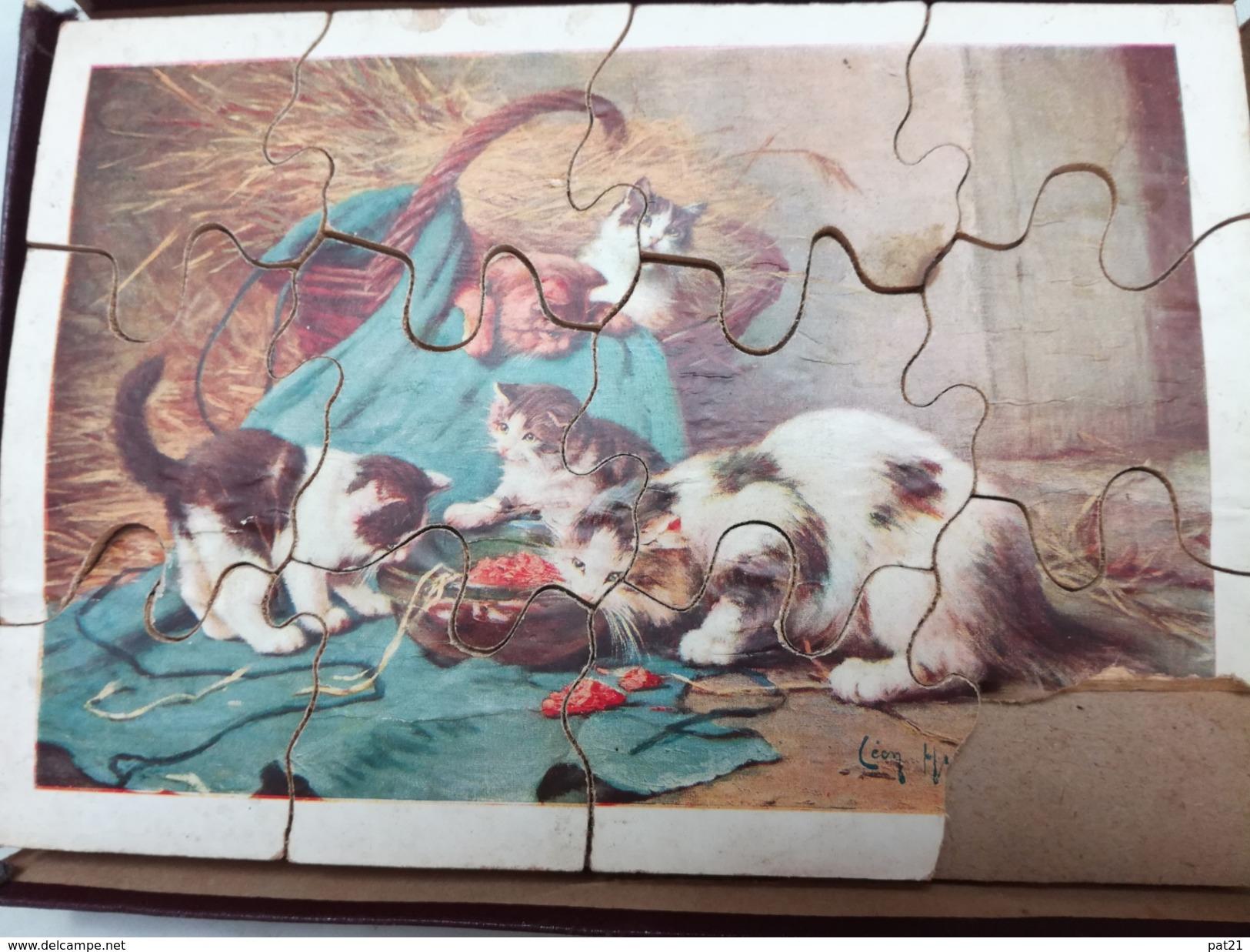 Boite Ancienne De 5 Puzzles Dans Boîte D'origine à Restaurer (complète Nbx Décollages) - Toy Memorabilia