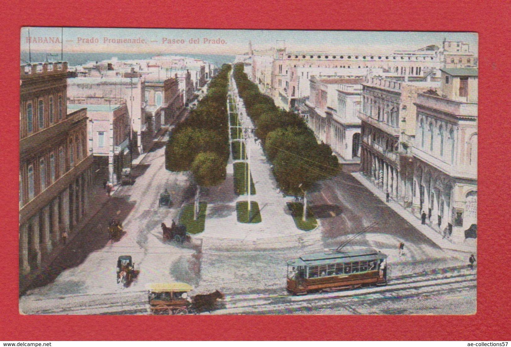 Cuba  --  Habana  --  Prado Promenade - Postcards