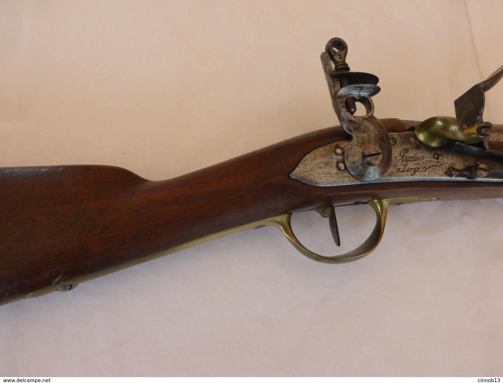 MOUSQUETON DE HUSSARD Mle 1786 - FUSIL - GOSUIN à LIEGE FABRICANT BELGE - Armes Neutralisées
