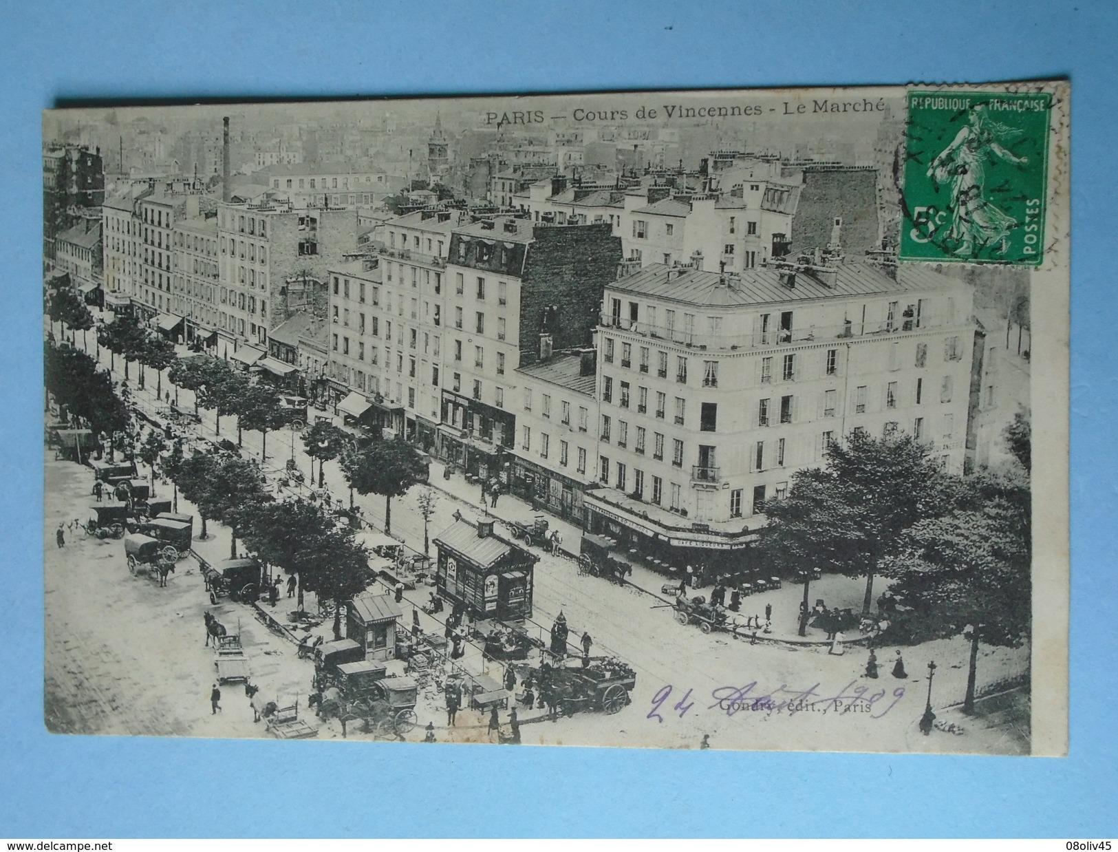 PARIS  20° -- Jour De Marché Cours De Vincennes - ANIMEE - Marchés