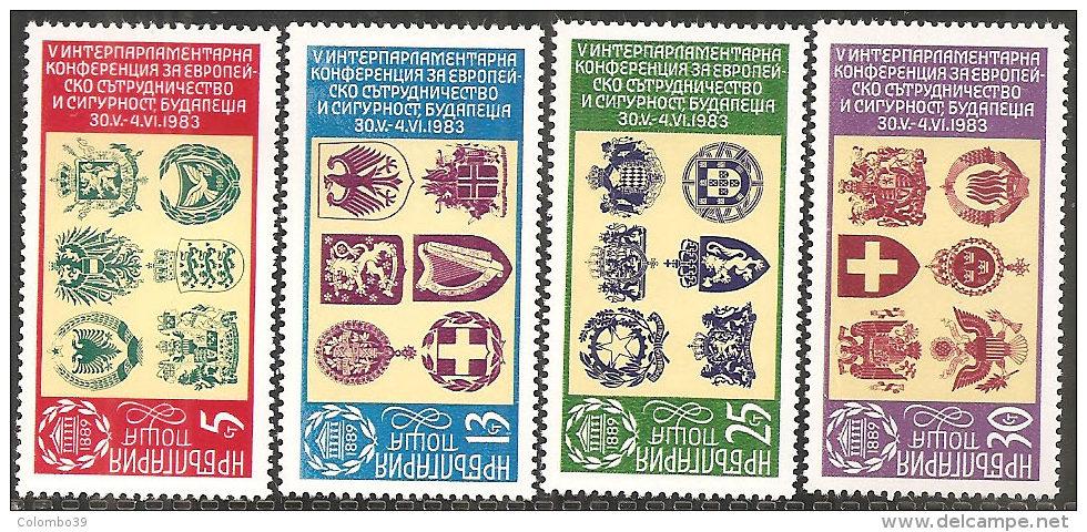 Bulgaria 1982 Nuovo** - Mi.3174/7  Yv .2771/4 - Bulgaria
