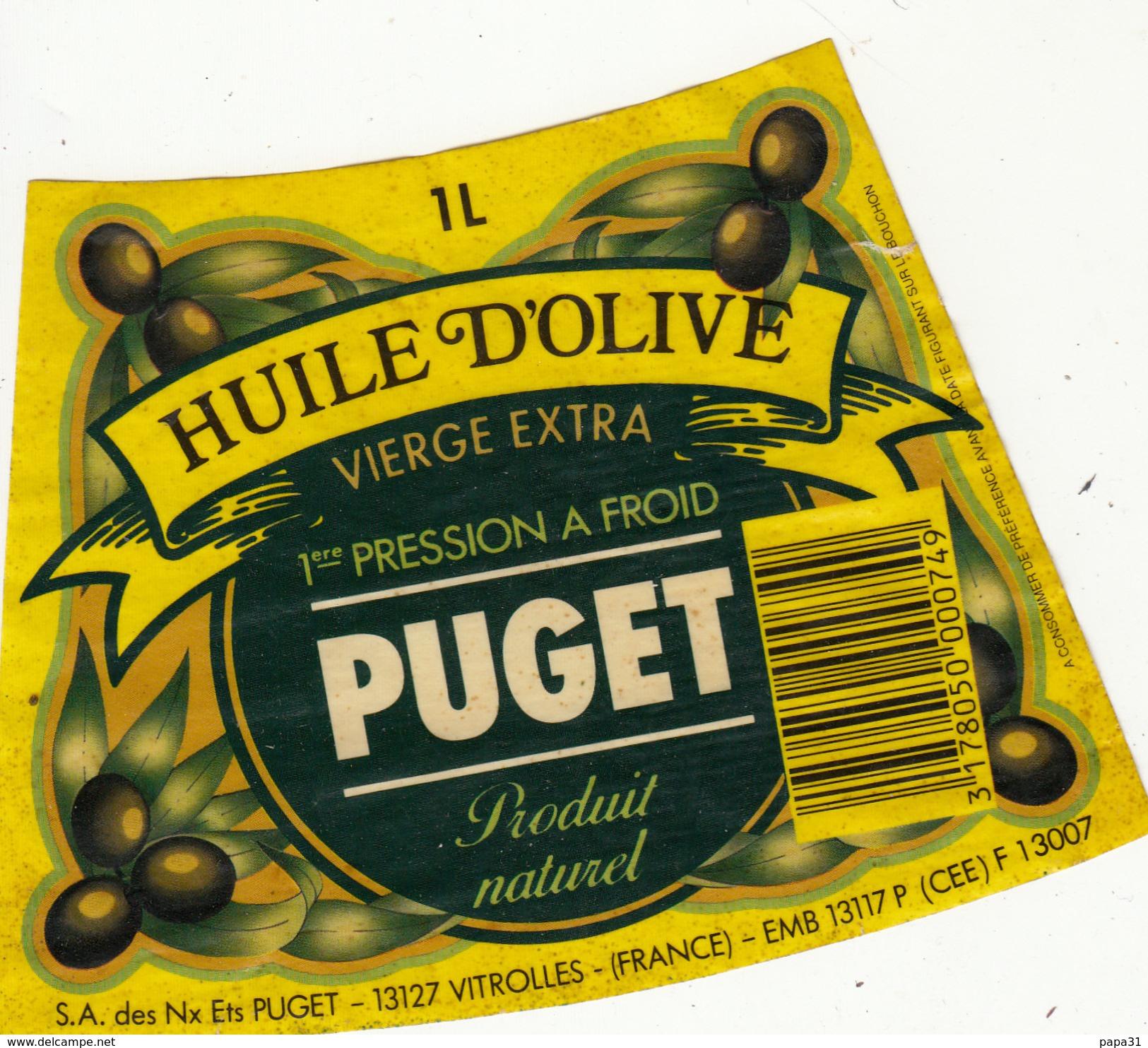 Étiquette -  HUILE D'OLIVE  PUGET - Unclassified