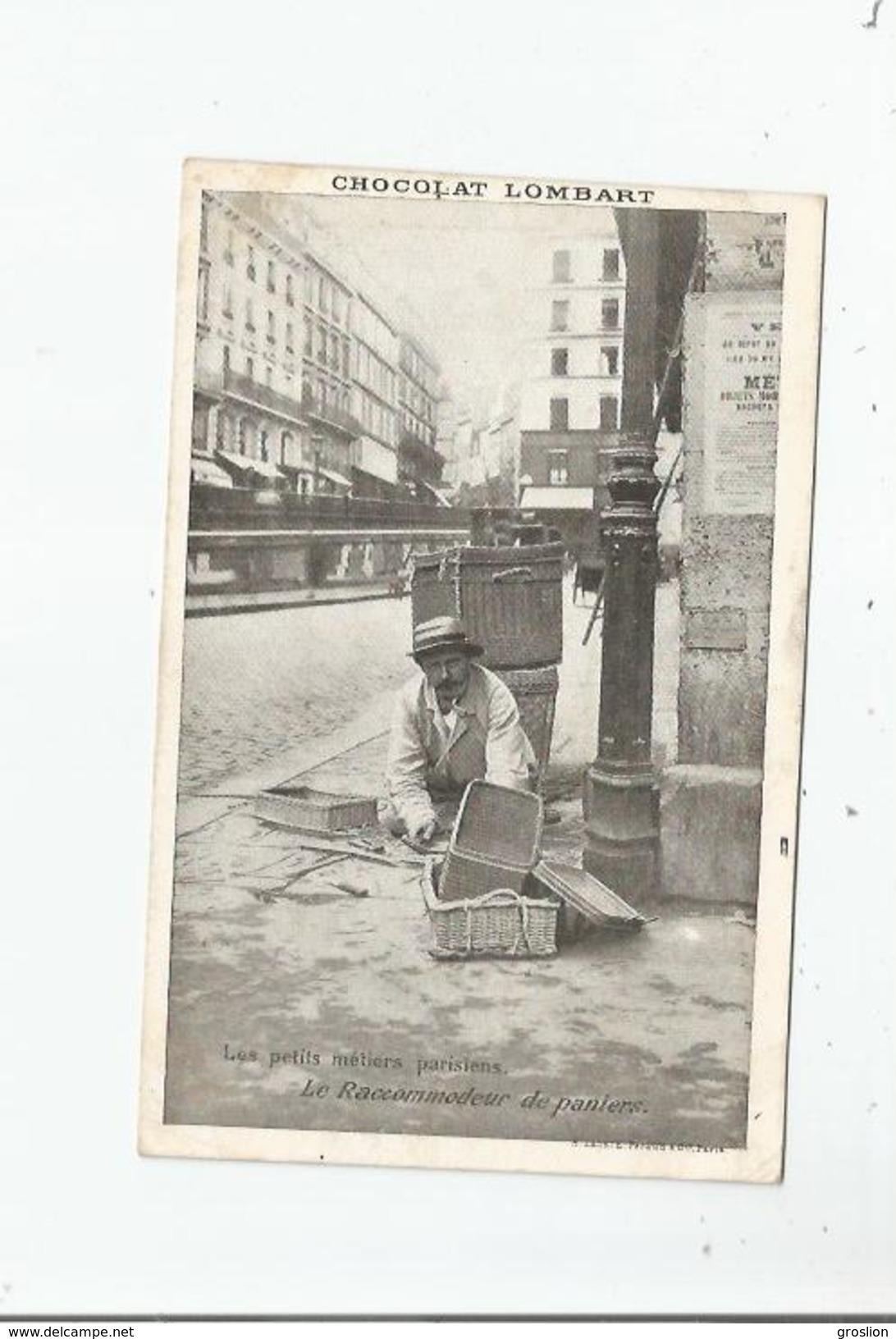 LES PETITS METIERS PARISIENS LE RACCOMODEUR DE PANIERS SERIE H LAAS ET PECAUD PARIS - Artigianato Di Parigi