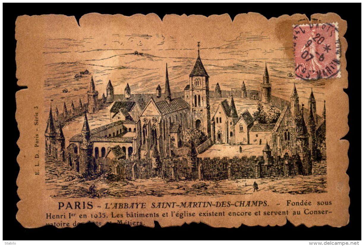 75 - PARIS 3EME - GRAVURE - L'ABBAYE ST-MARTIN-DES-CHAMPS - Paris (03)