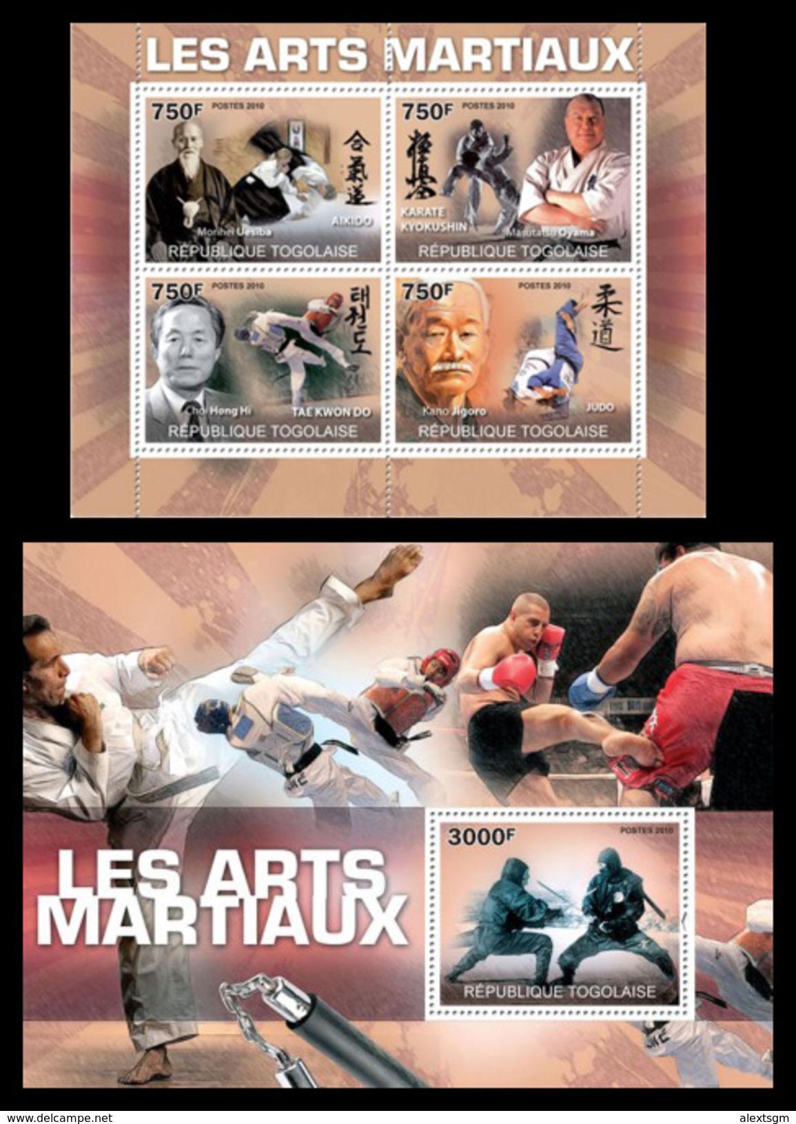 TOGO 2010 - Martial Arts, Judo - YT 2248-51 + BF415; CV = 34 € - Togo (1960-...)