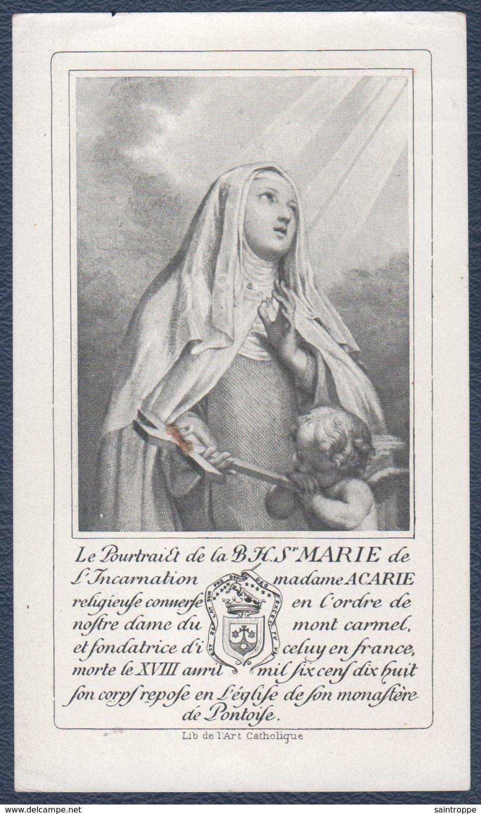 Reliquaire Sainte-Marie De L'Incarnation.Avec Parcelle De Son Cercueil. - Images Religieuses