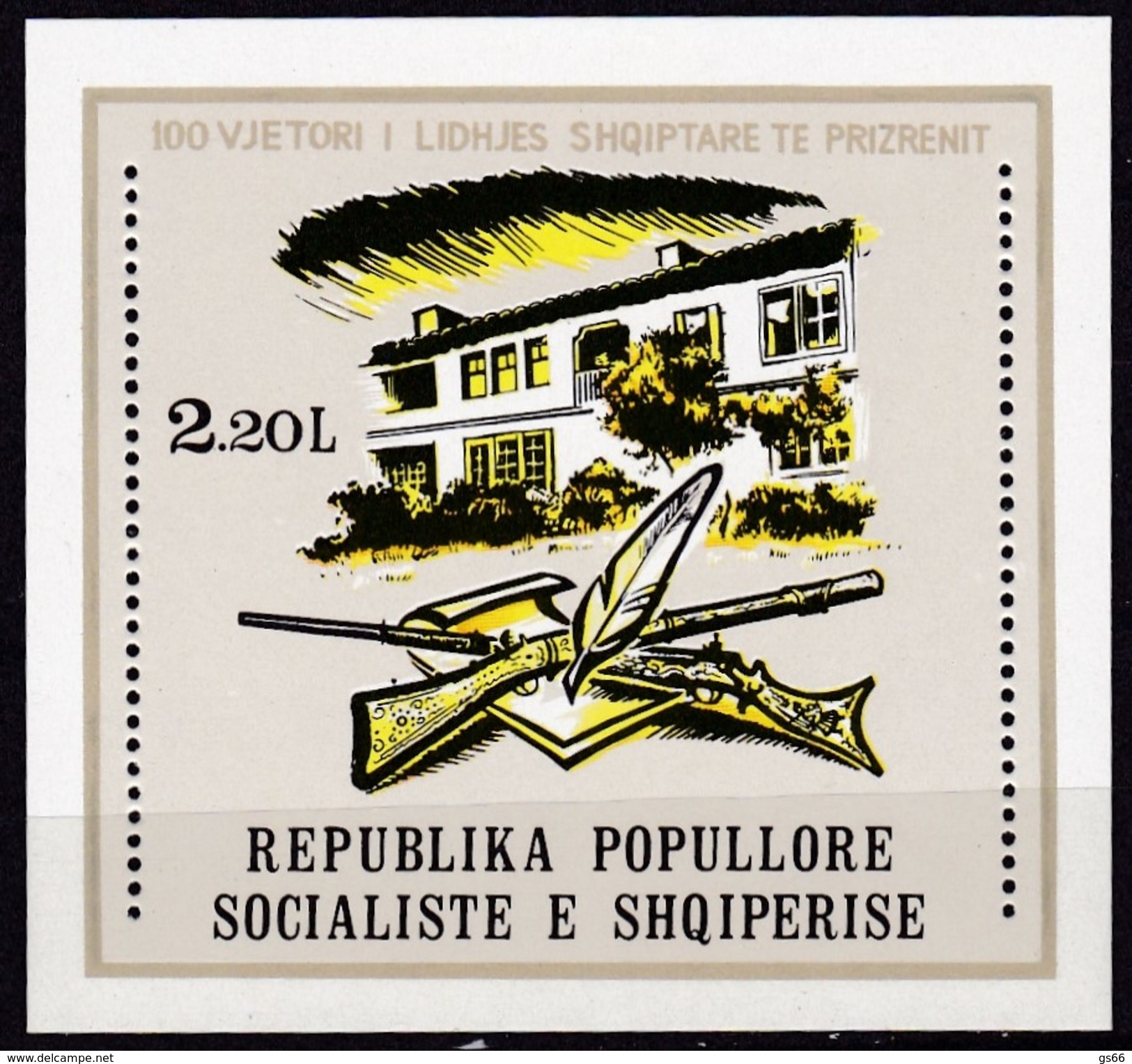 1978, Albanien,  Block 65, Prizrenit. MNH ** - Albanie