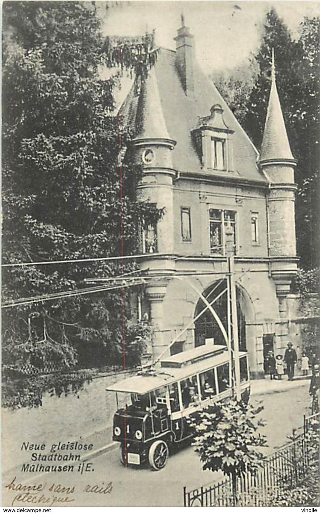 PIE-17-F-CH.1862 : NEUE GLEISLOSE STADTBAHN. MÜLHAUSEN I. E. TRAMWAY ELECTRIQUE - Mulhouse