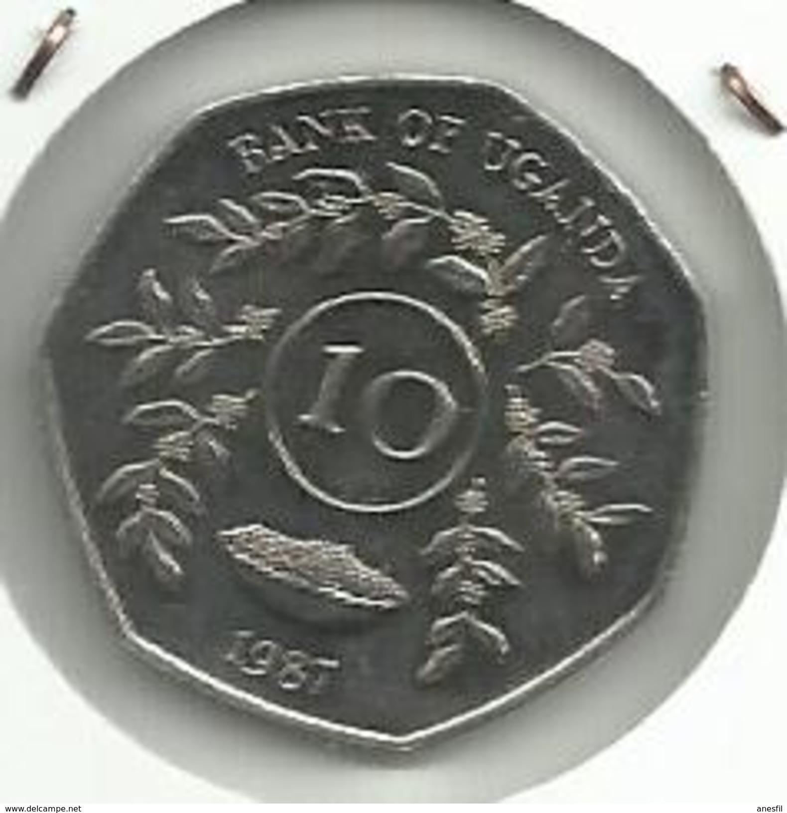 Uganda_1987_10 Shillings. S/C - Uganda