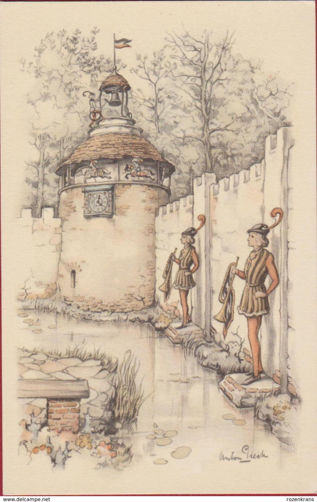 De Efteling Anton Pieck Kaatsheuvel Illustrator Illustrateur Sprookjesbos DE MAGISCHE KLOK Theme Park Funpark - Fairy Tales, Popular Stories & Legends