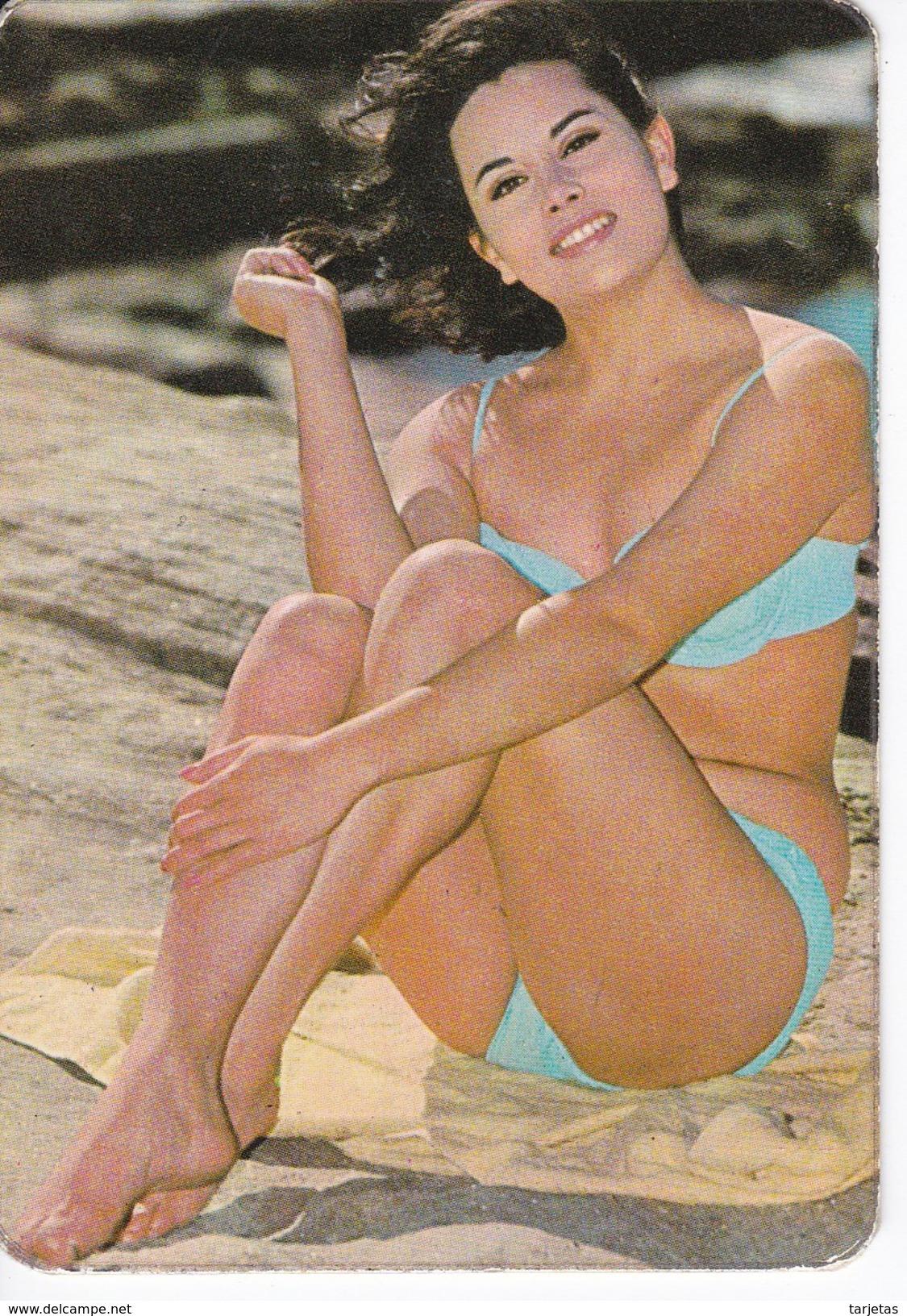 CALENDARIO DEL AÑO 1973 DE UNA CHICA SEXI (NUDE-DESNUDO) (CALENDRIER-CALENDAR) - Calendarios
