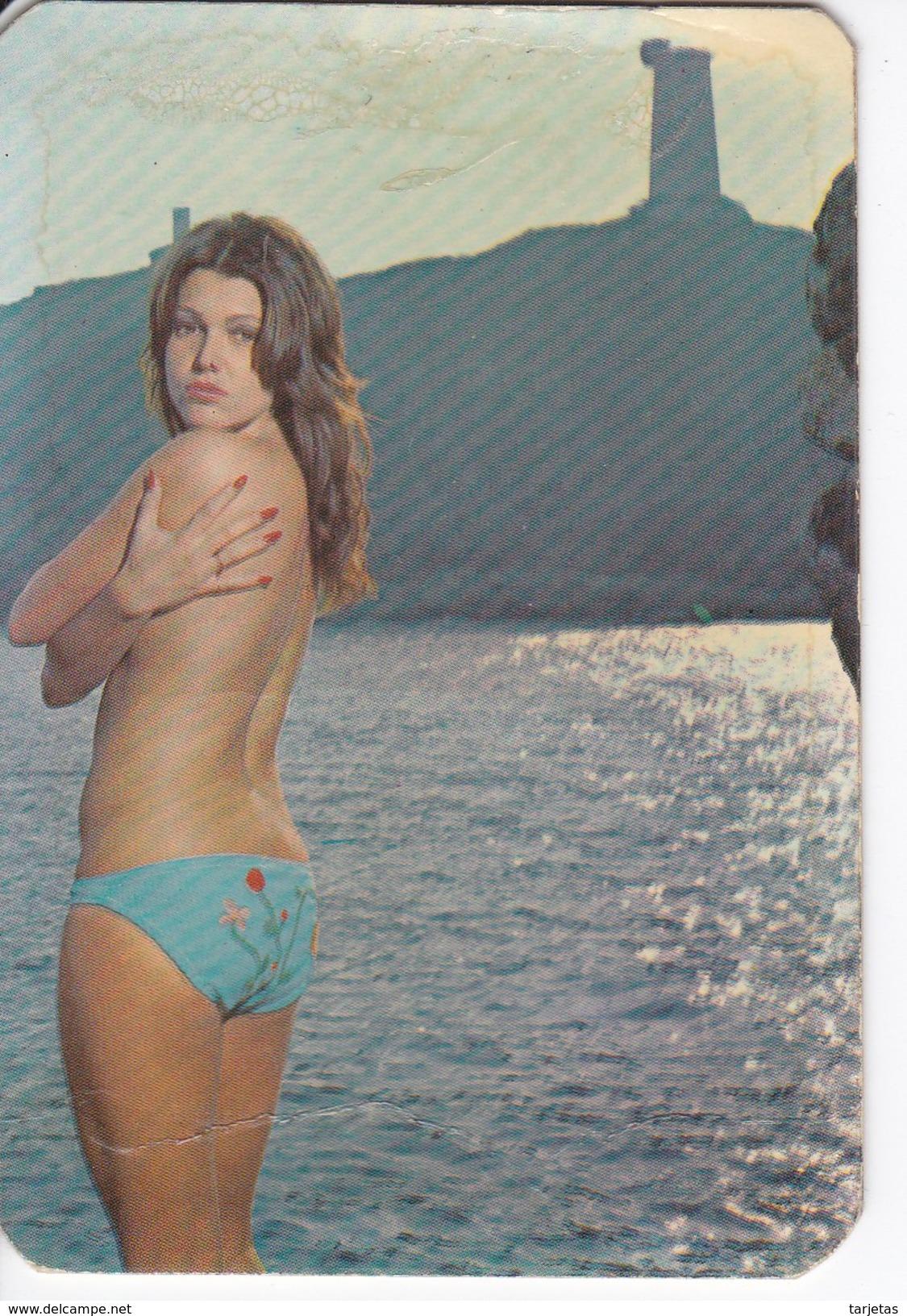 CALENDARIO DEL AÑO 1974 DE UNA CHICA SEXI (NUDE-DESNUDO) (CALENDRIER-CALENDAR) - Calendarios