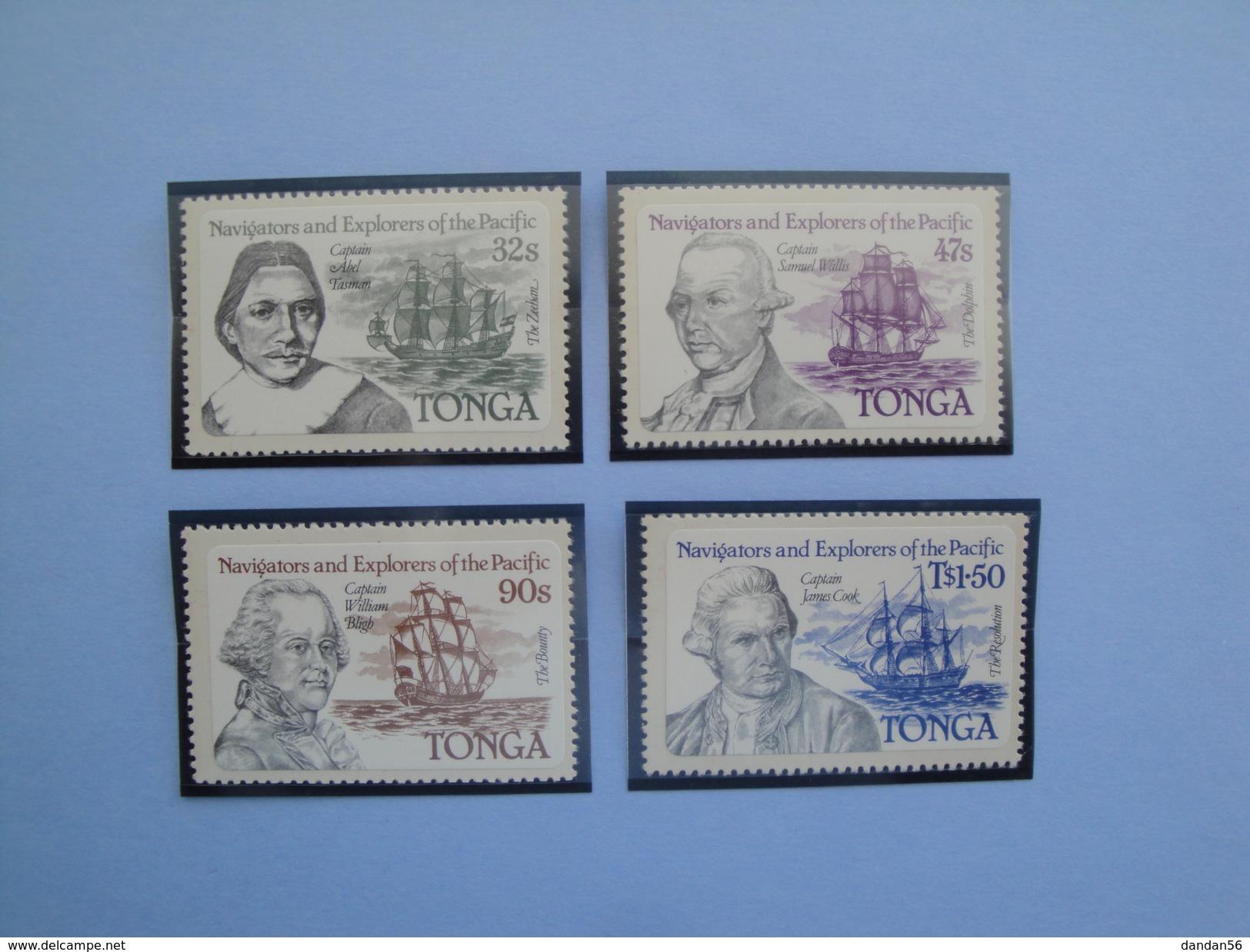 1984 Tonga - Yvert 555/8 ** Bateaux  Ships  Scott Xxx Michel 869/72  SG Xx Navigators - Tonga (1970-...)
