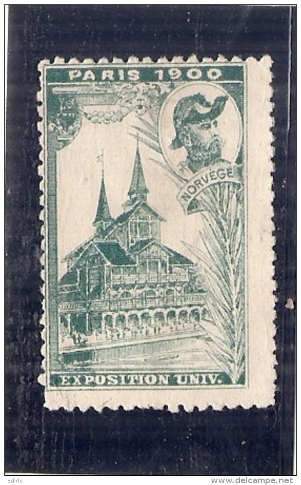 ERINNOPHILIE - Vignette Exposition Universelle PARIS 1900 - Non Gommé -  NORVEGE - Autres