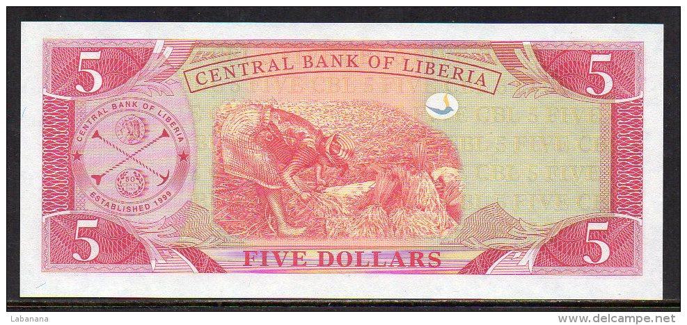 510-Liberia Billet De 5 Dollars 2003 AJ543 Neuf - Liberia