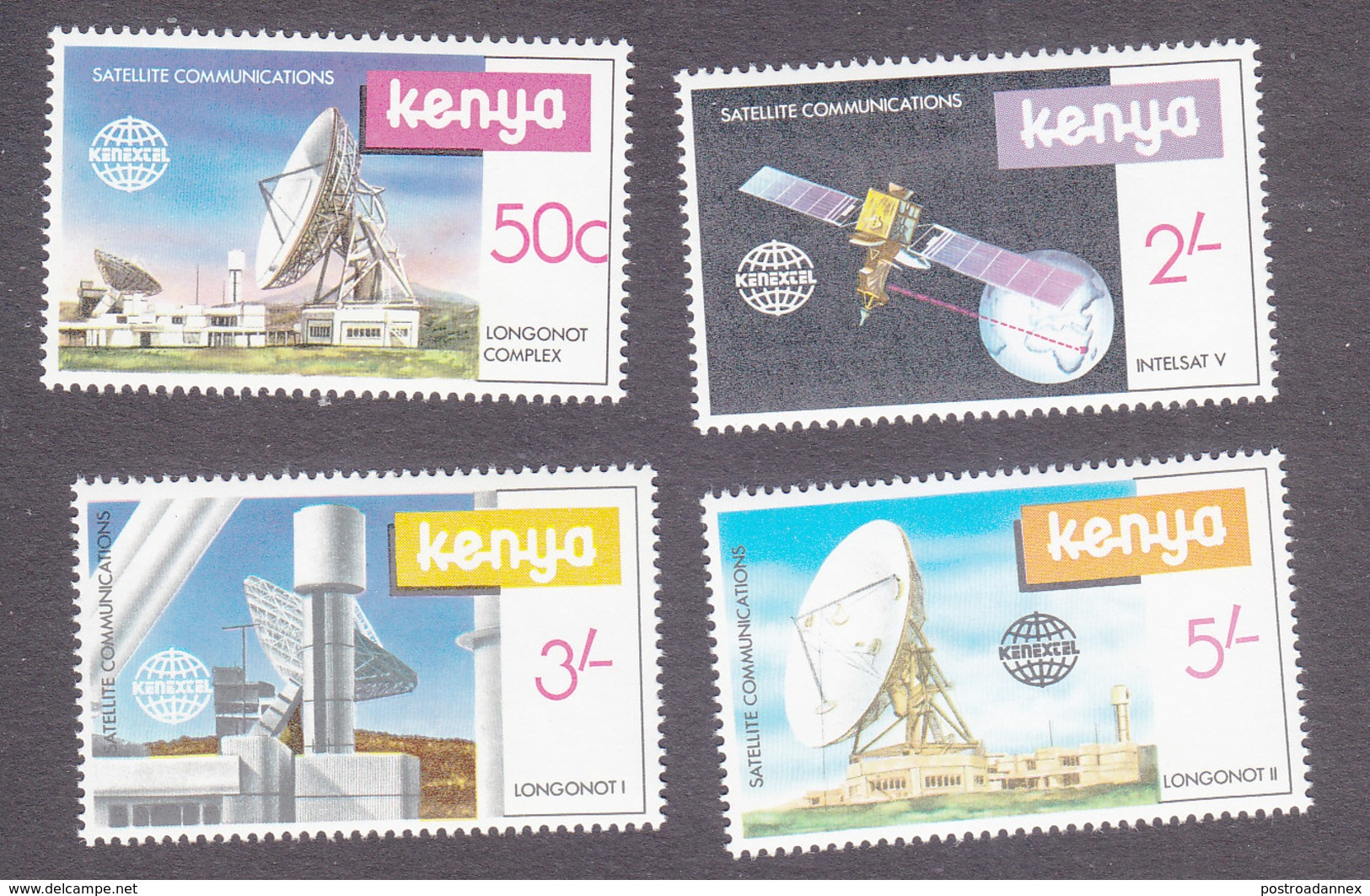 Kenya, Scott #185-188, Mint Hinged, Space Exploration, Issued 1981 - Kenya (1963-...)
