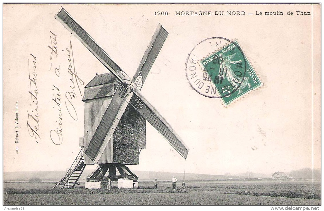 MORTAGNE DU NORD Le Moulin De Thun Top  Animation - France