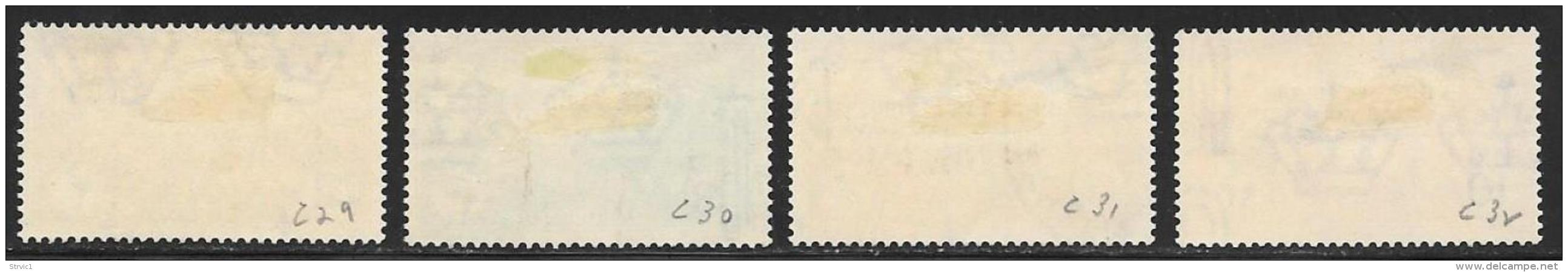 Tripolitania, Scott # C29-32 Used 1931 Stamps Overprinted And Surcharged, 1934, CV$390.00 - Tripolitania