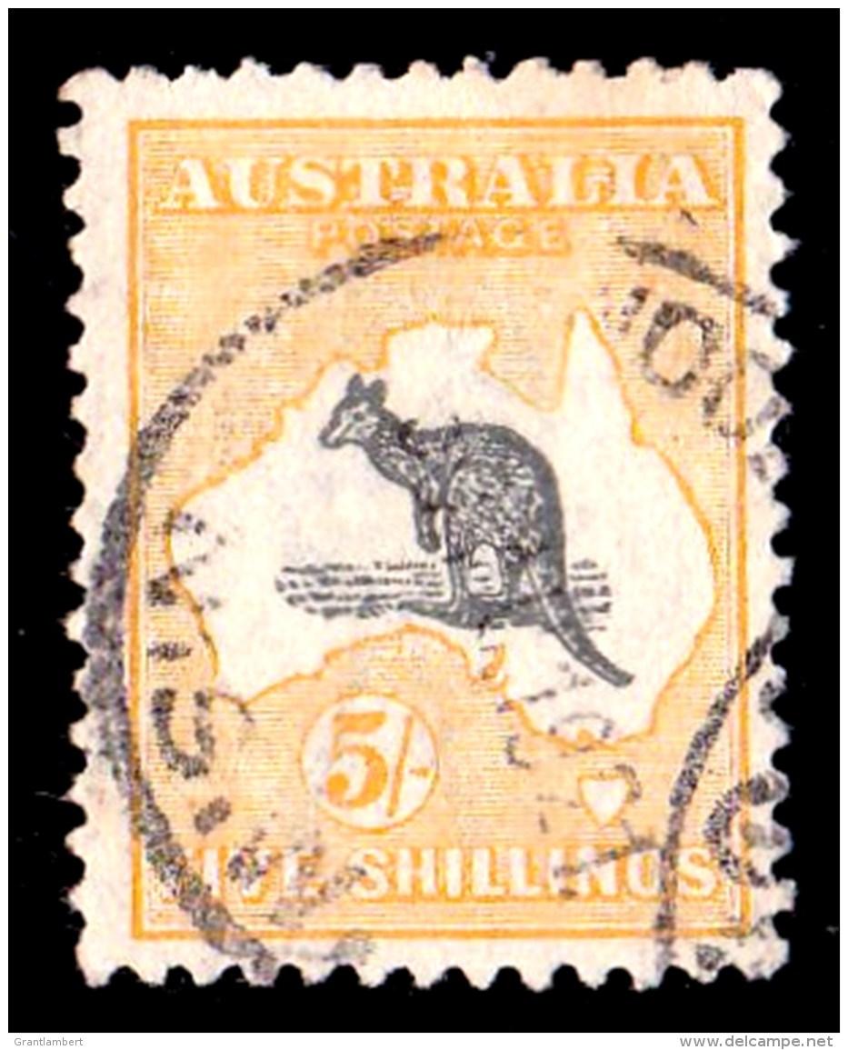 Australia 1918 Kangaroo 5s 3rd Watermark Used - Listed Variety - Used Stamps