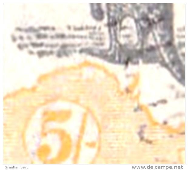 Australia 1918 Kangaroo 5s 3rd Watermark Used - Listed Variety - 1913-48 Kangaroos
