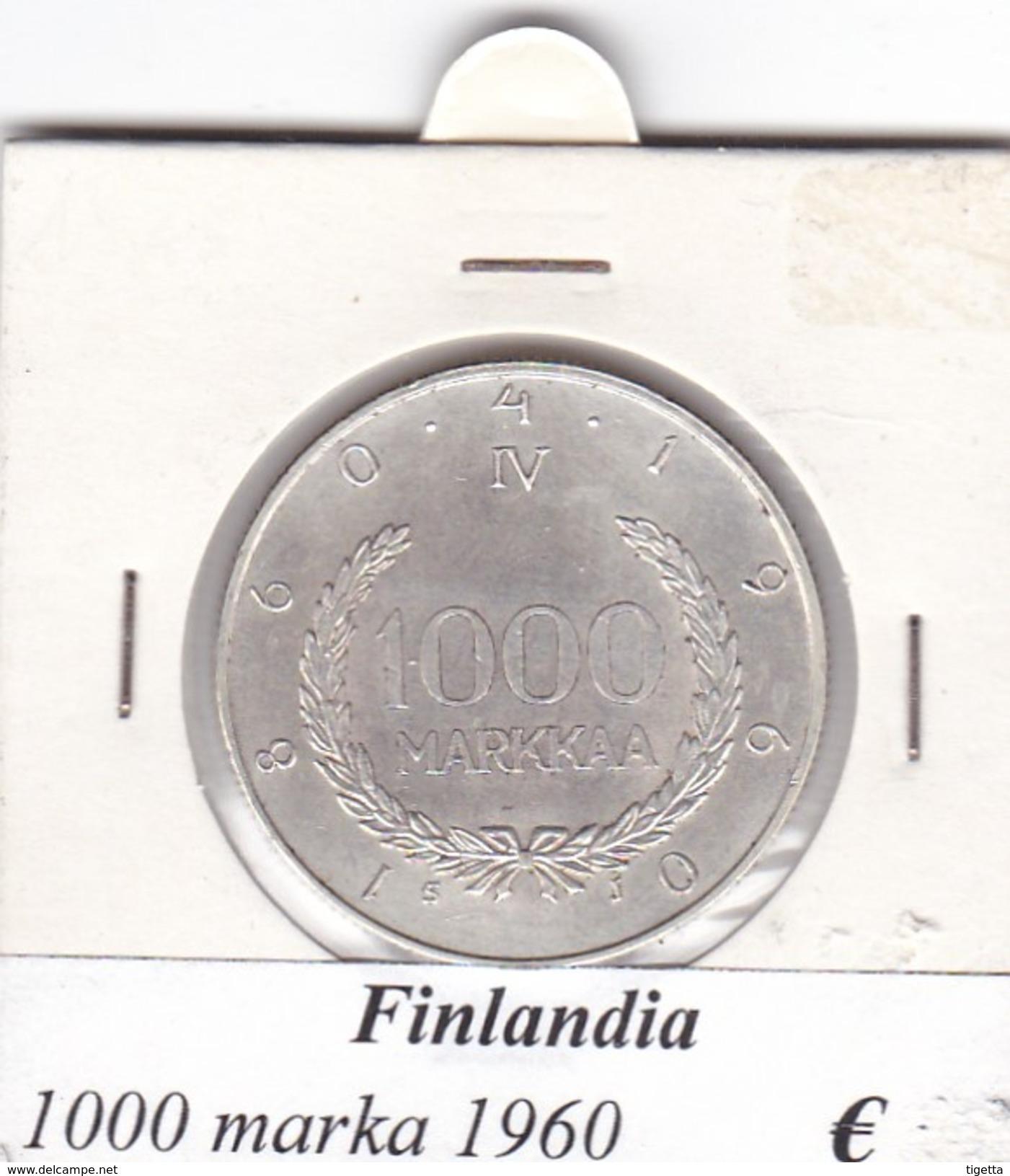 FINLANDIA   1000 MARKKAA  1960  COME DA FOTO - Finlandia