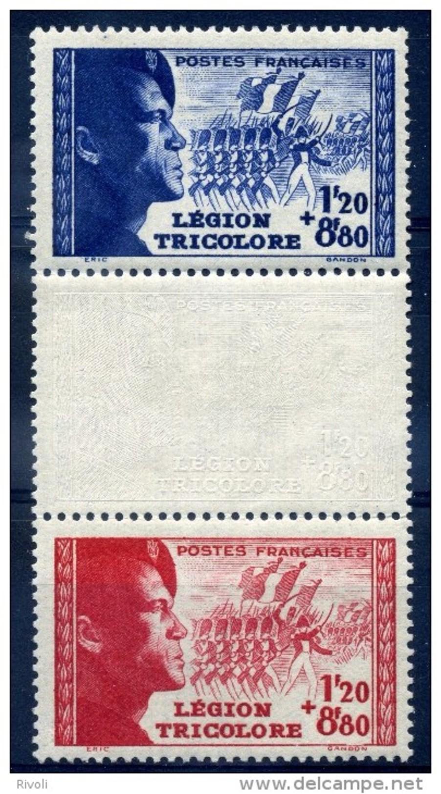 FRANCE 1942  YVERT  N° 565 à 566 A Avec Bande Neuf LUXE  MNH COTE 27.5E - Nuovi