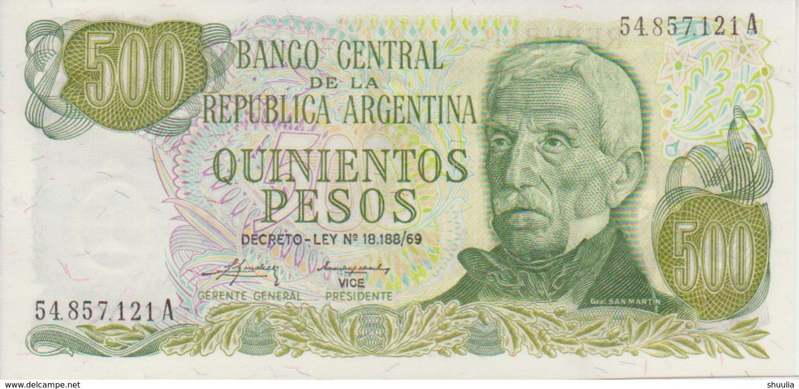 Argentina 500 Peso 1974-75 Pick 298c UNC - Argentinië