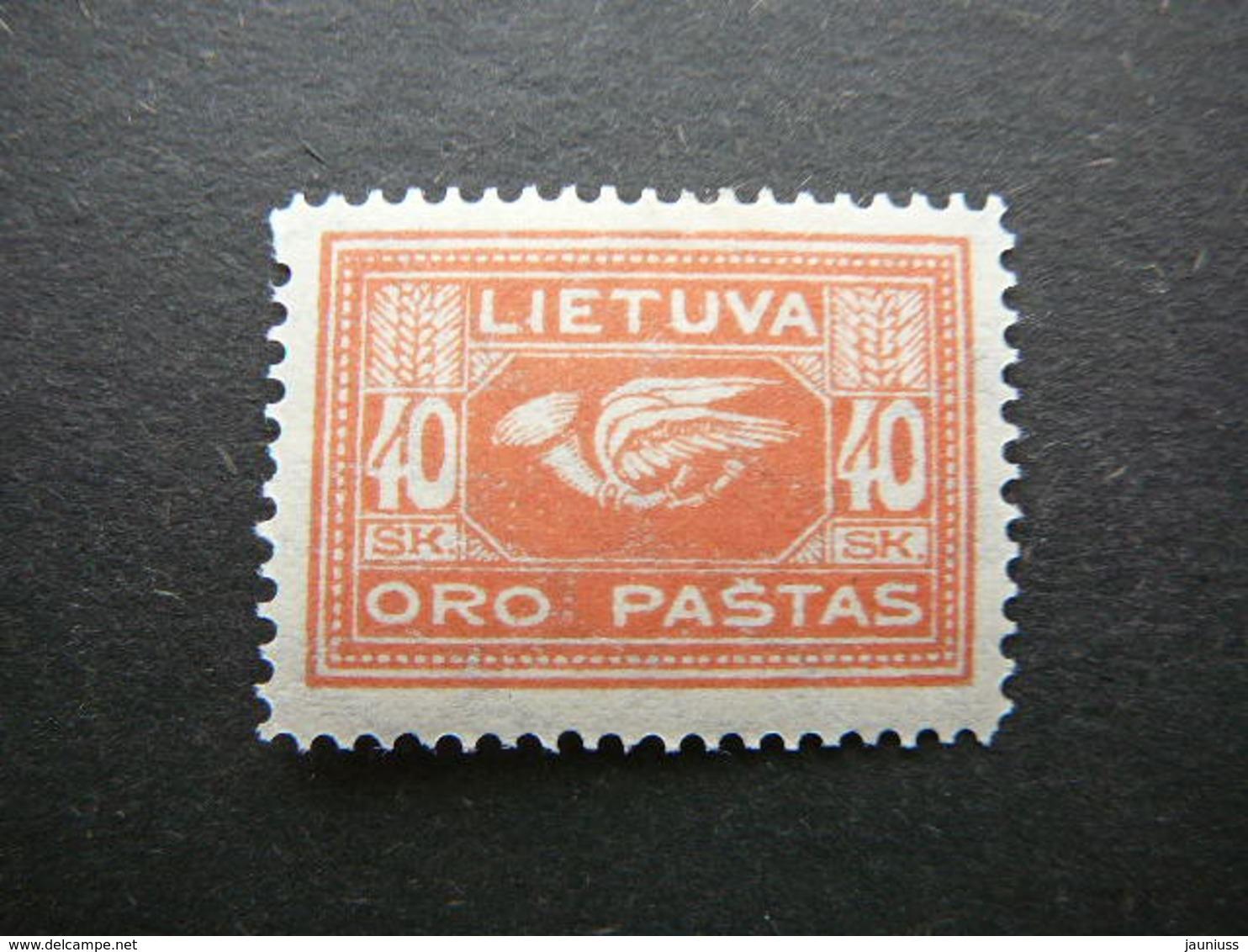 Lietuva Lithuania Litauen Lituanie Litouwen # 1921 MH # Mi. 103 Planes. Airmail - Lithuania
