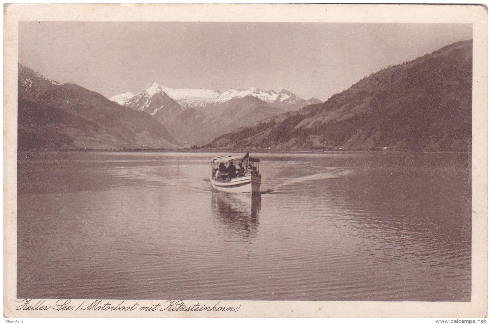 Zeller See - Motorboot Mit Kitzsteinhorn * 1923 - Zell Am See
