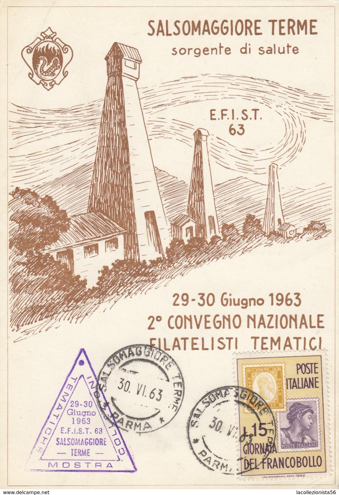 8520-2° CONVEGNO NAZIONALE FILATELISTI TEMATICI - SALSOMAGGIORE TERME 29-30 GIUGNO 1963-FG - Manifestations
