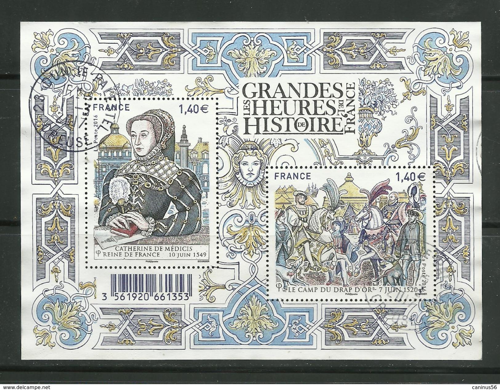 5067 5068 F5067 - 2016 : Feuillet Grandes Heures De L'histoire De France - Cachet Rond - Francia