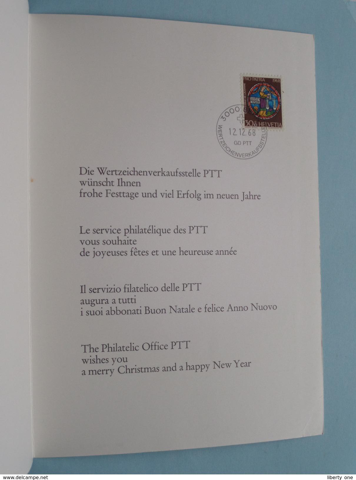12.12.68 Bern - New Year Greetings Wünschen 1969 - GD PTT ( Zie Foto ) ! - Cartoline Maximum
