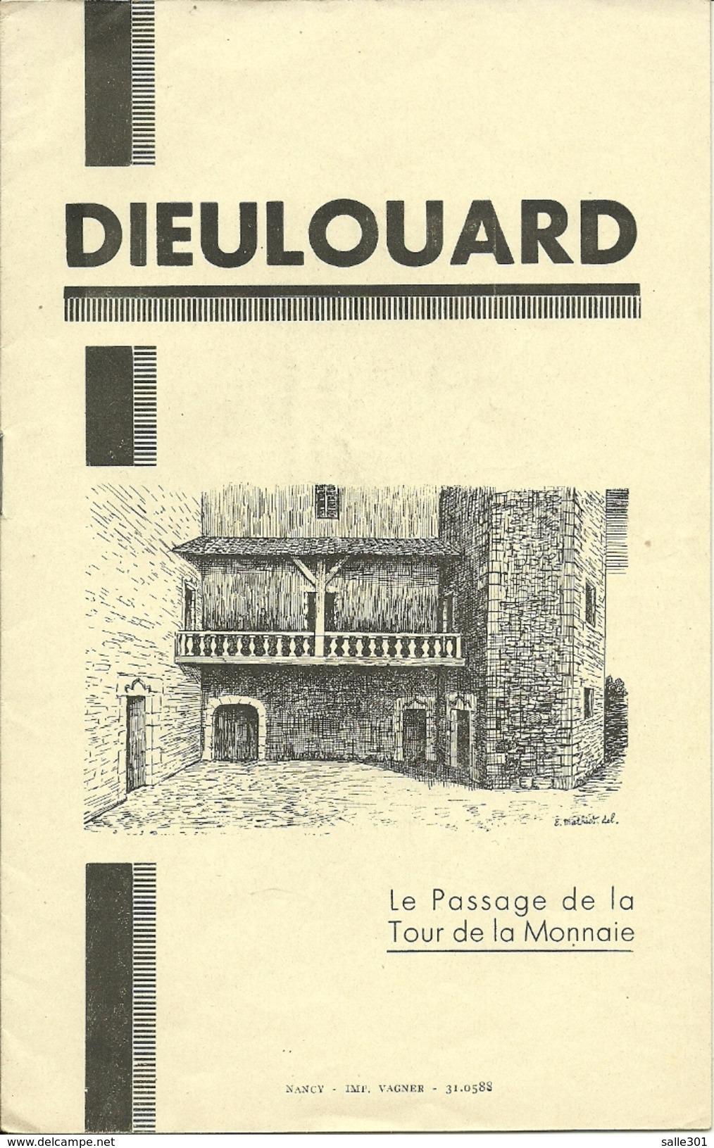 Dieulouard Le Passage De La Tour De La Monnaie Janvier 1944 G.Clanché. Curé - Newspapers