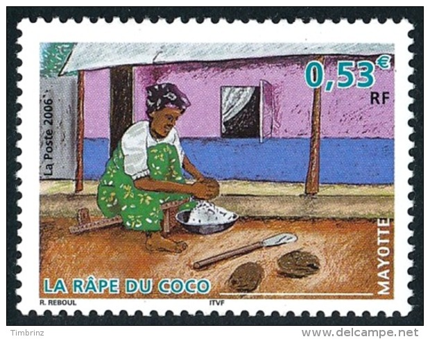 MAYOTTE 2006 - Yv. 183 **   Cote= 2,10 EUR - Râpe Du Coco  ..Réf.AFA22668 - Mayotte (1892-2011)