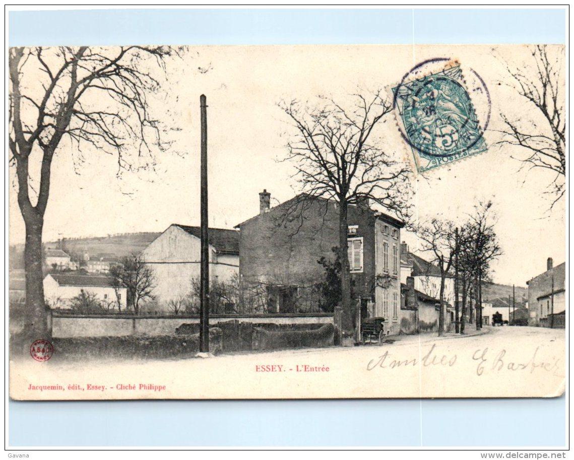 54 ESSAY - L'entrée   (Recto/Verso) - France