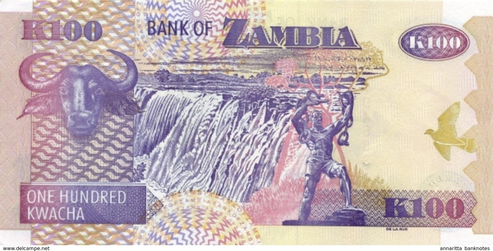 ZAMBIA 100 KWACHA 2009 P-38h UNC [ZM139i] - Zambia