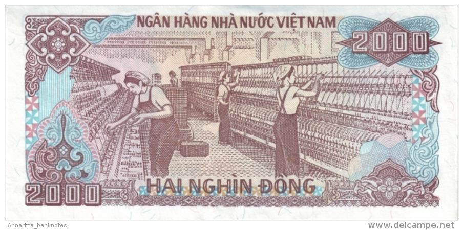 VIETNAM 2000 DONG 1988 (1989) P-107 UNC SMALL SERIAL # [ VN335a ] - Vietnam