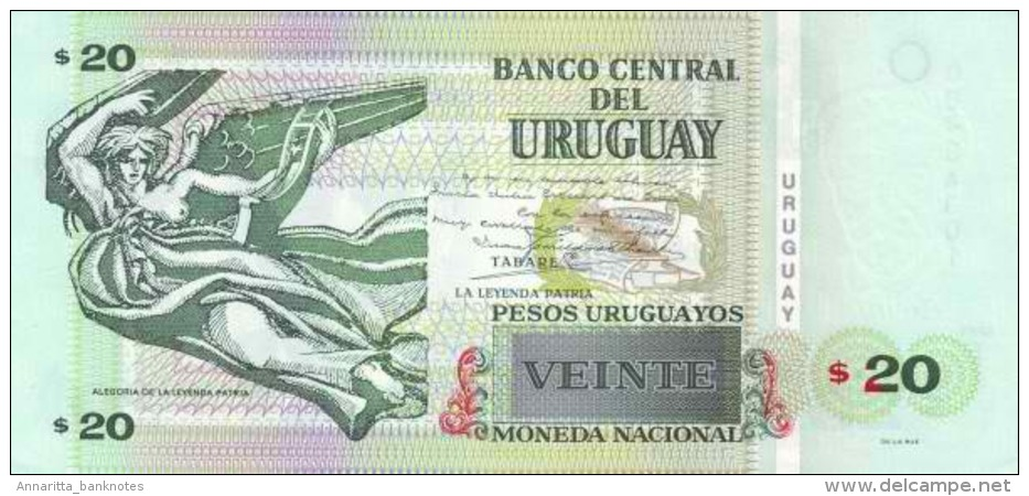 URUGUAY 20 PESOS URUGUAYOS 2011 P-86b UNC  [ UY545f ] - Uruguay