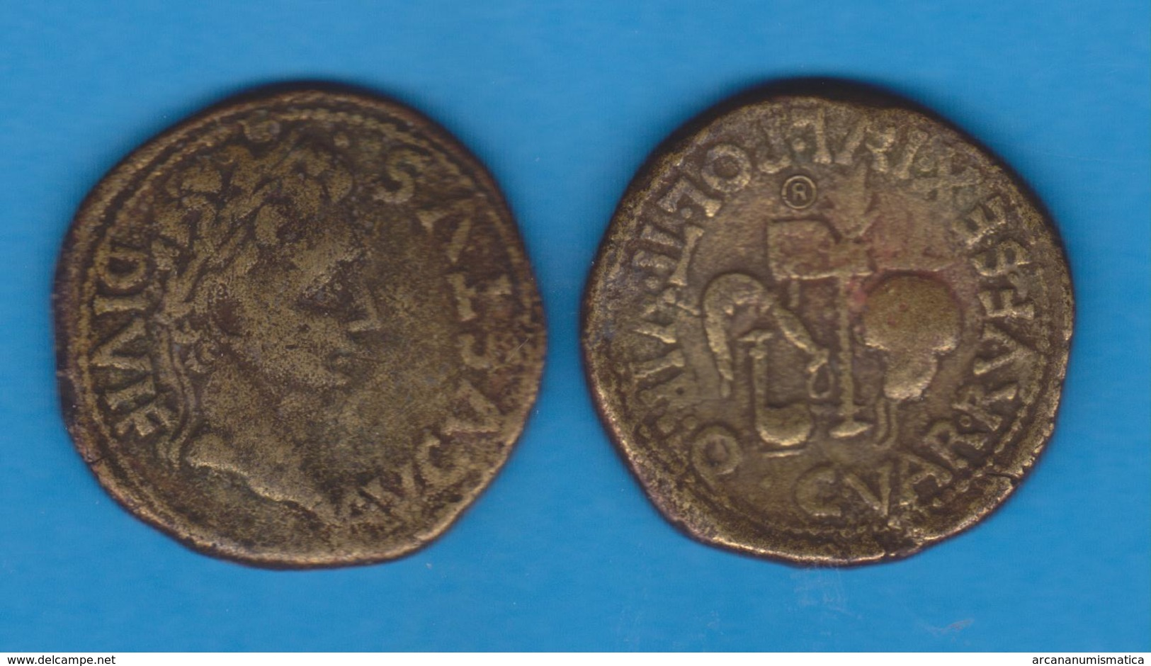 ALTO IMPERIO ROMANO (27 A.C. - 284 D.C.) César AUGUSTO (Del 27 A.C. Al 14 D.C.) AS BRONCE - Replica    SC/UNC DL-12.102 - 1. La Dinastía Julio-Claudia (-27 / 69)