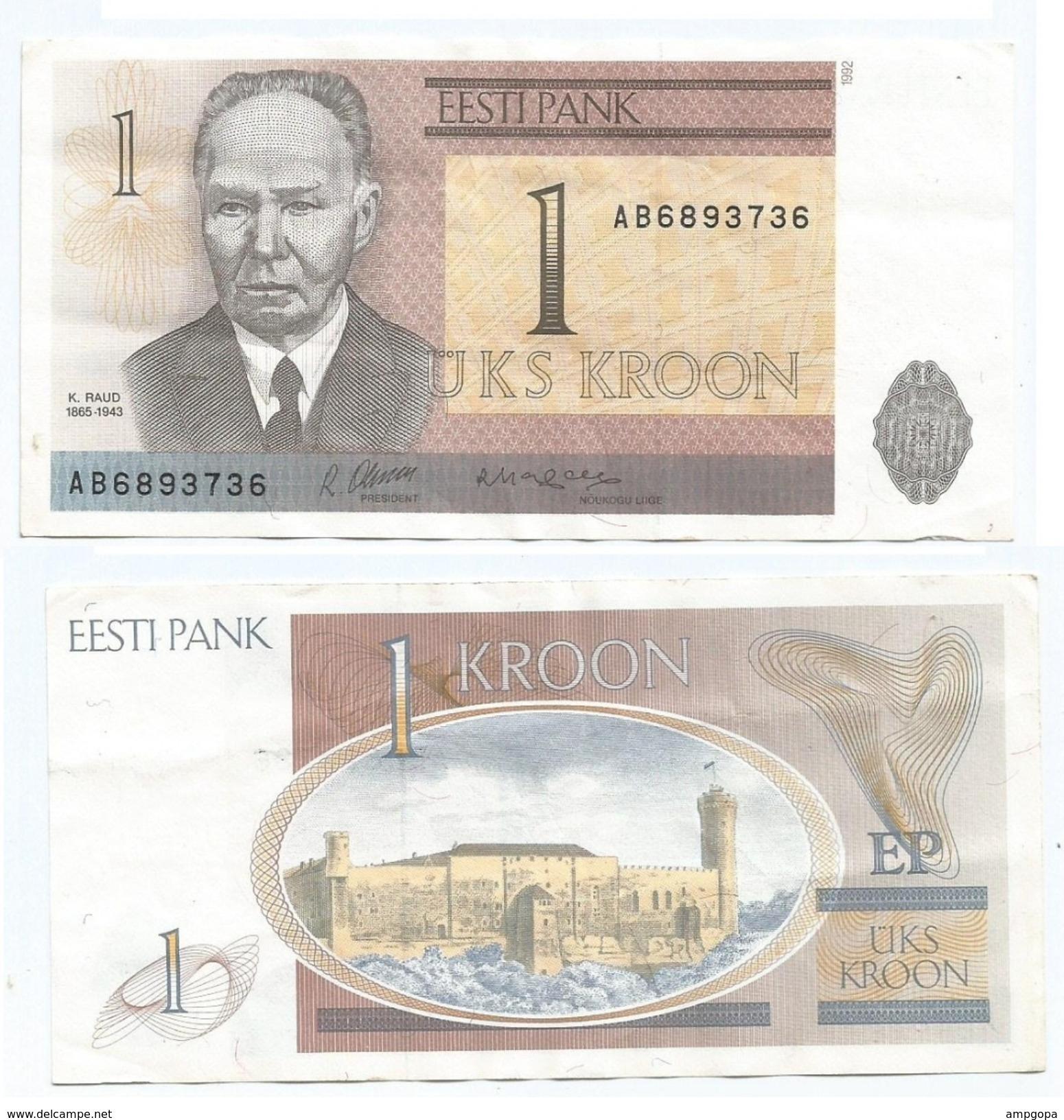 Estonia 1 Kroon 1992 Pick 69.a Ref 1110 - Estonia