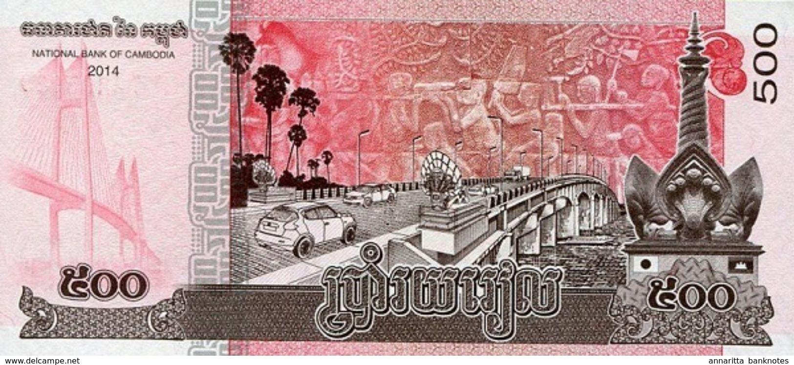 CAMBODIA 500 RIELS 2014 (2015) P-66a UNC [KH429a] - Cambodia