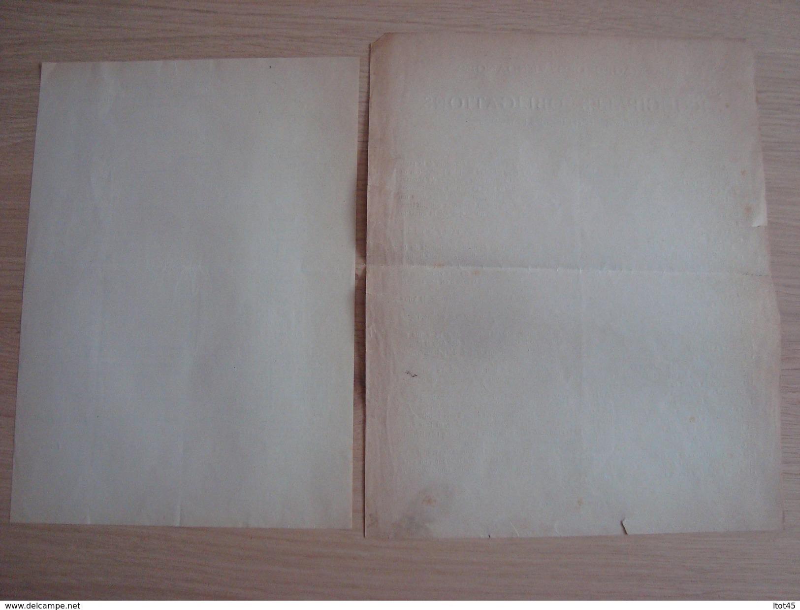 DOCUMENTS SUCRAGES DES VENDANGES PRINCIPALES OBLIGATIONS DES VITICULTEURS 1892 - Buvards, Protège-cahiers Illustrés