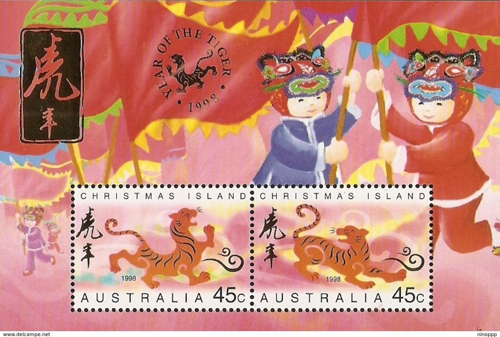 Christmas Island SG 442 MS 1998 Year Of The Tiger MS MNH - Christmas Island