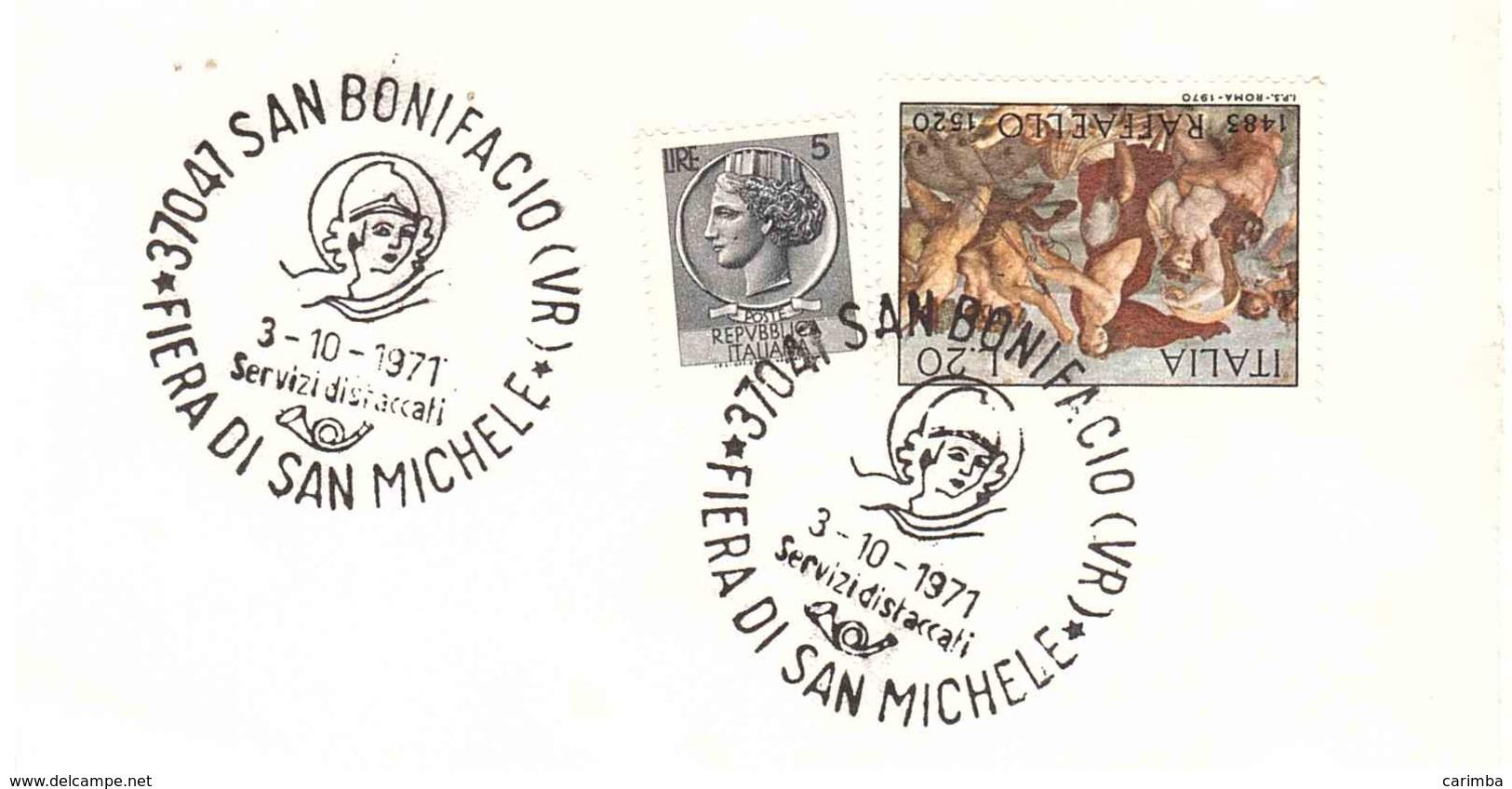 3.10.1971 SAN BONIFACIO VR FIERA DI SAN MICHELE - Affrancature Meccaniche Rosse (EMA)