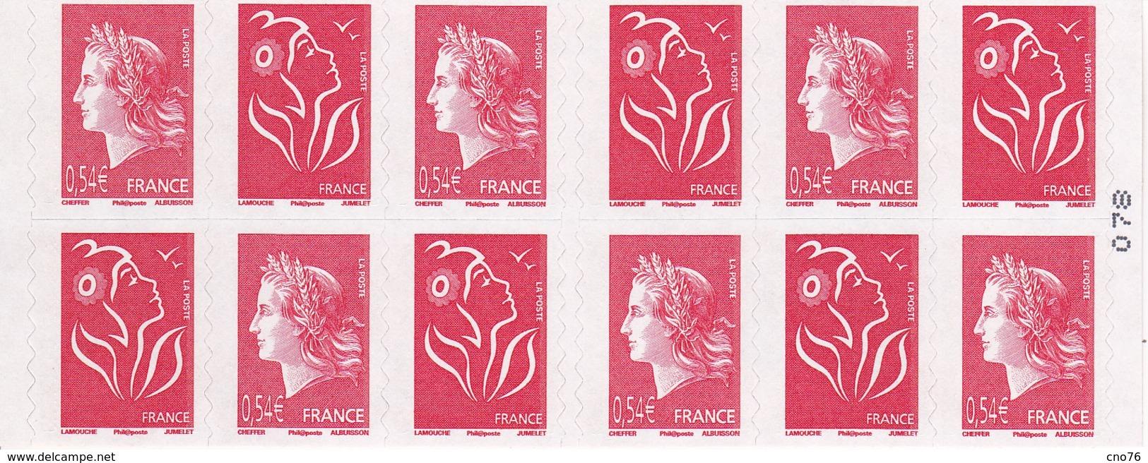 Carnet 40 Ans De La Marianne De Cheffer Carnet Adhésif Mixte De 2007 - Libretas