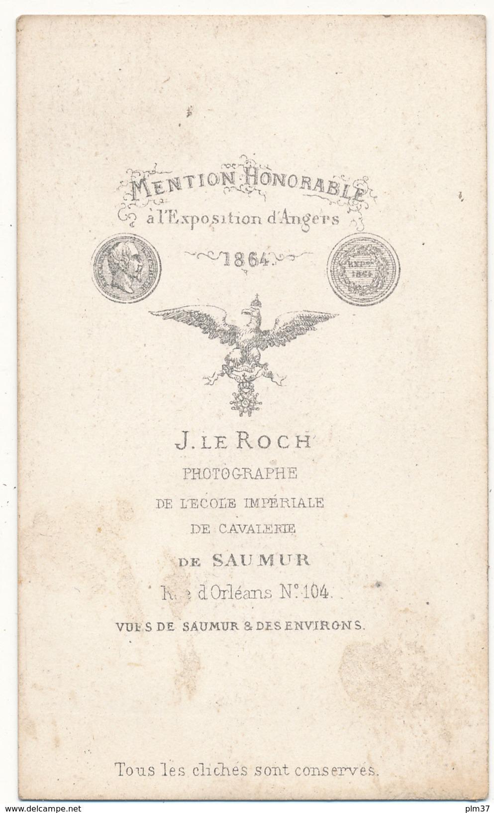 CDV - FONTEVRAULT, 49 - J. Le Roch, SAUMUR - 2 Scans - Photographs
